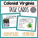 Virginia Studies Colonial Virginia Task Cards VS.4