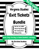 Virginia Studies Exit Ticket Bundle - All 10 Units!