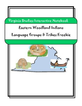 Virginia Studies Freebie - Indians Language Groups - Interactive Notebook