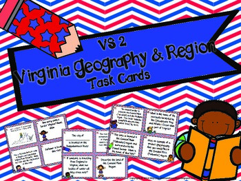 Virginia Studies Geography and Region Task Cards