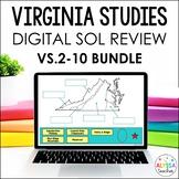 Virginia Studies Google Drive Review BUNDLE (VS.2-VS.10) - Distance Learning