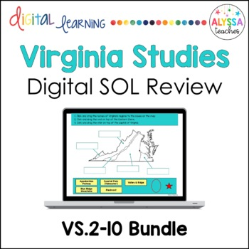 Virginia Studies Google Drive Review BUNDLE (VS.2-VS.10)