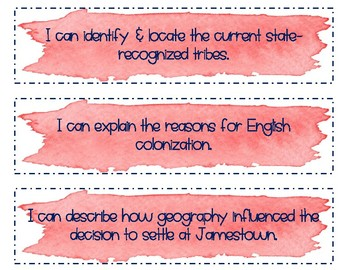 Virginia Studies I Can Statements- Entire Year