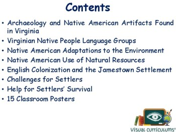 VA Studies: Indians & Jamestown Lesson Flashcards task cards study exam prep
