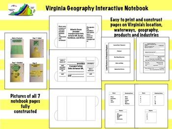 Virginia Studies Interactive Notebook 1st Quarter BUNDLE