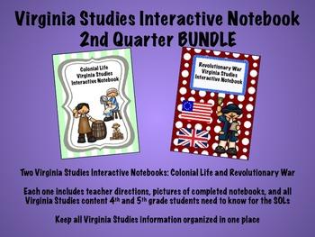 Virginia Studies Interactive Notebook 2nd Quarter BUNDLE