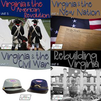 Virginia Studies Interactive Notebook Bundle