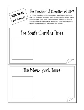 Virginia Studies Interactive Notebook - Civil War Unit