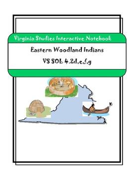 Virginia Studies Interactive Notebook - Indians Unit - 25 pgs