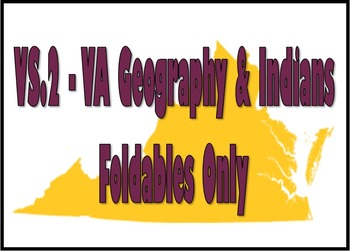 Virginia Studies Interactive Notebook - VS.2 Unit Only
