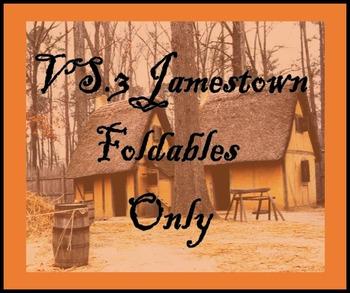 Virginia Studies Interactive Notebook - VS.3 Jamestown