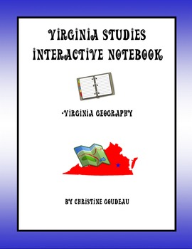 Virginia Studies Interactive Notebook - Virginia Geography Unit