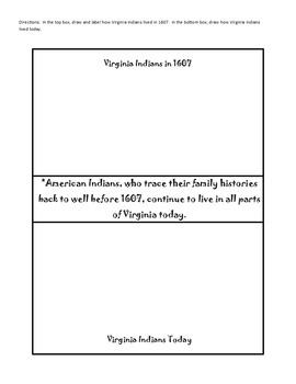 Virginia Studies Interactive Notebook - Virginia Indians