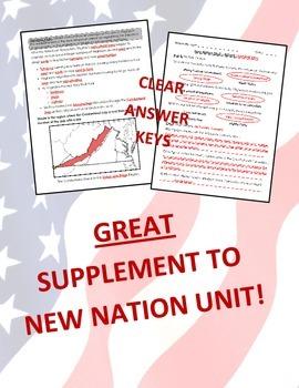 Virginia Studies New Nation Unit (VS.6 a-c) + (VS.10a)