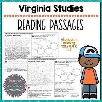 Virginia Studies Nonfiction Reading Passages SOL 4.4, 4.6