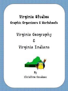 Virginia Studies Packet -Regions/Geography & Virginia Indians Worksheets/Quizzes