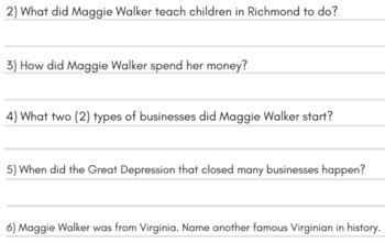 Famous Virginians: VS9 Virginia Studies Reading Passage Activities w/ Rap Songs