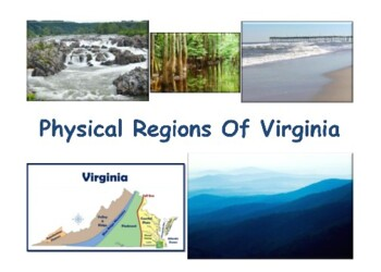 VA Studies: Physical Regions Lesson & Flashcards task card study guide exam prep