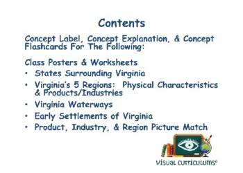 VA Studies Physical Regions Lesson & Flashcards study guide exam prep 2017 2018