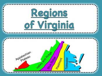 Virginia Studies Regions Matching Cards