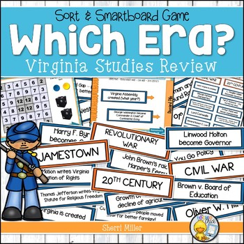 Virginia Studies Review Sort and SMARTboard Game