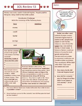 Virginia Studies SOL Review 13