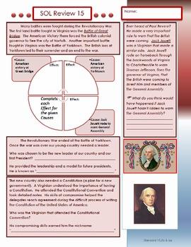 Virginia Studies SOL Review 15