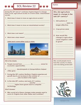 Virginia Studies SOL Review 22