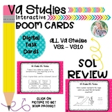 Virginia Studies SOL Review Boom Cards