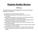 Virginia Studies SOL Review Packet for VS.3