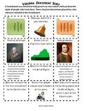 Virginia Studies: SOL VS:6b : Virginia Historical Documents