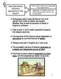 Virginia Studies Standards VS.3e, 4a,b,c,d Study Guide