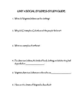 Virginia Studies Study Guide: Language Groups