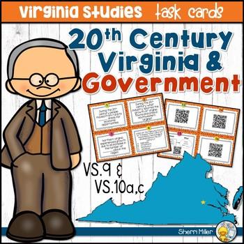 Virginia Studies Task Cards - 20th Century VA & Government (VS.9 & VS.10)