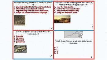 Virginia Studies Task Cards