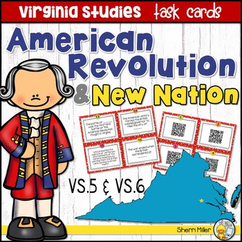 Virginia Studies Task Cards - American Revolution & New Na