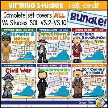 Virginia Studies Task Cards Bundle (VS.2-VS.10)