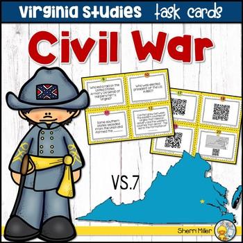 Virginia Studies Task Cards - Civil War (VS.7)