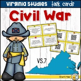 Virginia Studies Task Cards - Civil War (VS.7)