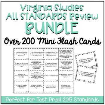 Virginia Studies Test Prep BUNDLE