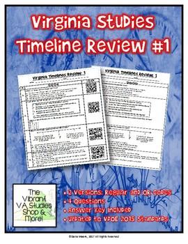 Virginia Studies Timeline Review #1