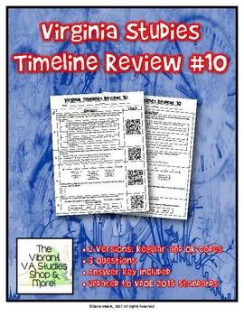 Virginia Studies Timeline Review #10