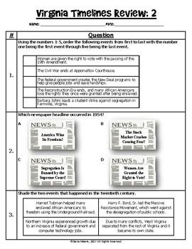 Virginia Studies Timeline Review #2