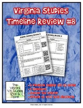 Virginia Studies Timeline Review #8