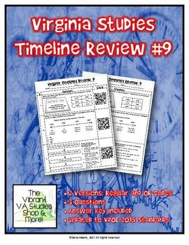 Virginia Studies Timeline Review #9