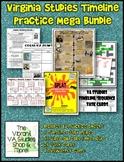 Virginia Studies Timeline Review MEGA BUNDLE