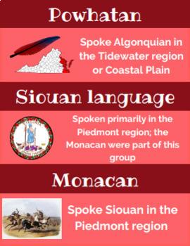 Virginia Studies VS.2 Vocab Word Wall Cards