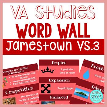 Virginia Studies VS.3 Vocab Word Wall Cards
