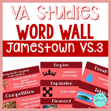 Jamestown VS.3 Vocab Word Wall Cards