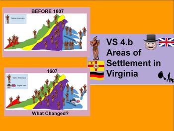 Virginia Studies VS 4b Migration & Areas of Settlement of Jamestown and Virginia